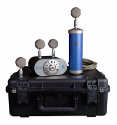 Blue Microphones Bottle Mic Locker Large-Diaphragm Tube Microphone with 4 Int...