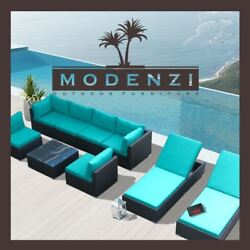 9G Outdoor Patio Furniture Rattan Wicker Sectional Sofa Chair Couch Lounge Set