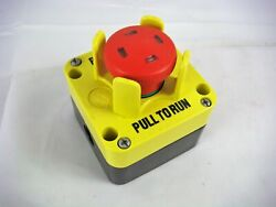 Commercial Push Pull Stop Run Button New