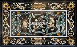 5'x3' Marble Top Dining Room Set Inlay Italian Marquetry Patio Arts Decor H3875