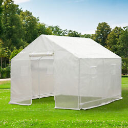 Outsunny 10' x 9.5' Portable Walk-In Greenhouse Outdoor Plant Gardening PE Cover