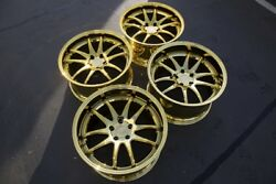 19x9.511 Aodhan DS02 5x114.3 +15 Gold Vacuum Rims Fits G35 350z 370z (Used)