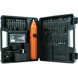 60 pc 3.6V Cordless Rotary Tool Set Battery Operated Rechargeable $17.99
