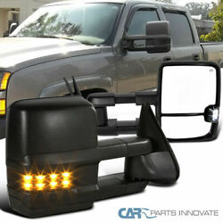 03-06 Silverado Sierra Power Heated Towing Mirrors+Smoke Lens LED Turn Signal