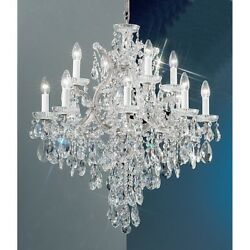 Classic Maria Theresa 13 Lt Chandelier Chrome Crystal Elements - 8123CHS