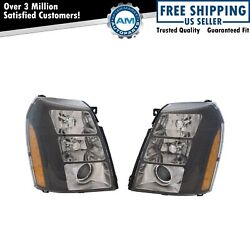 HID Projector Performance Headlight Lamp with Black Bezel for Cadillac Escalade