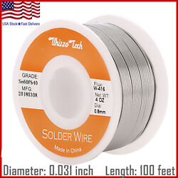 60-40 Tin Lead Rosin Core Solder Wire Soldering Sn60 Pb40 Flux .031