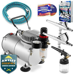 Dual Action Airbrush Kit with 3 Airbrushes $96.99