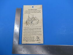 Vintage Snowshoe Assembly Instructions with Pictures S4185 $11.99
