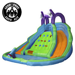 Cloud 9 Bounce House With Climbing Wall Water Slide And Pool With Blower $399.99