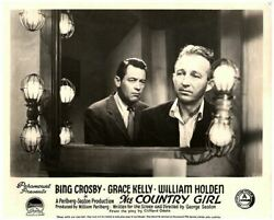 The Country Girl original lobby card Bing Crosby William Holden looks in mirror