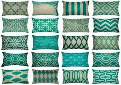 12x20quot; Turquoise Vintage Home Decor PILLOW COVER Sofa Bedding Cushion Case USA $7.86