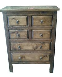 Victoria Rustic Bedroom Dresser 6 Drawers $929.00