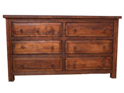 Victor Rustic Bedroom Dresser 6 side by side Drawers $929.00
