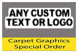 ANY Custom Text or Logo  - Bass Boat Carpet Graphic - Multiple Sizes - Decal