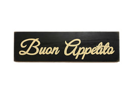 BUON APPETITO Italian Kitchen Dining Room Sign Food Wood UPik Color Plaque Italy $26.95