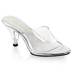 3quot; Clear Heels Glass Slippers Bikini Contest Body Building Competition Shoes $43.95
