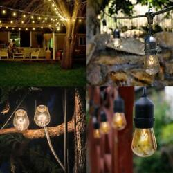 Lot210 48FT Outdoor Waterproof Commercial Grade Patio Globe String Lights Bulbs