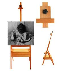 French Easel Portable Wooden Storage Tripod Stand w Display Art Artist Painting