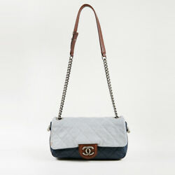 Chanel Navy Blue Multi Quilted Calfskin Leather