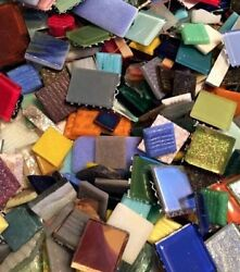 Huge Assorted Lot of Mixed Glass Mosaic Craft Tiles! 10 pounds!