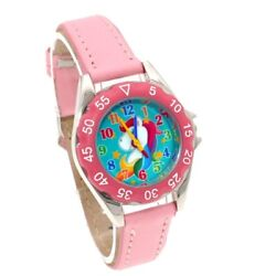 Unicorn Watch Girls Kids Watches Children's Gifts Leather Flowers Wristwatch U85