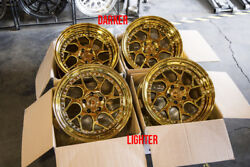 18x9.510.5 Aodhan DS01 5x114.3 +15 Gold Vaccum Rims Fits 350Z 370Z G35 Coupe