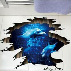 Wall Stickers Ceiling Floor Sticker Dolphin Wall Tattoo Art Decal Home Decor $7.50