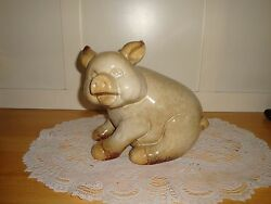 REDUCED ADORABLE!!! Ceramic Pig Figure-FarmhouseShe Shed -Kitchen Collectible