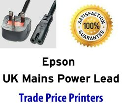 NEW UK Mains AC Power Lead Cable Cord For Epson WorkForce Range Printer  $12.40