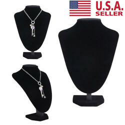 US Jewelry Mannequin Stand Holder Necklace Pendant Neck Model Prop Display Home