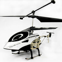 3 Channel RC Mini Helicopter Remote Control Silver Gyro Easy Fly LED Light $33.11