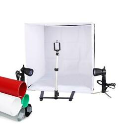 New Lighting In A Box Photo Studio Photography Light Tent Backdrop Kit Cube 24