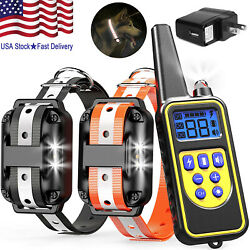 2600FT Dog Training Collar Rechargeable Remote Shock PET Waterproof For 2 Dogs $39.99