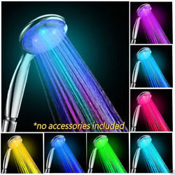 NEW Colorful Head Home Bathroom 7 Colors Changing LED Shower Water Glow Light $11.99