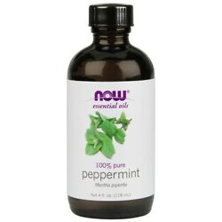 NOW Foods Peppermint Oil 4 fl oz 100% Pure FREE SHIPPING MADE IN USA $14.99