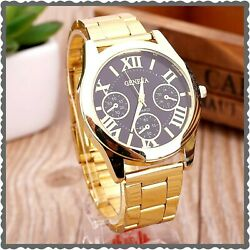 GENEVA GOLD TONE WRISTWATCH AT YOUR HOME IN 3 5 DAYS WITH FREE SHIPPING $24.67