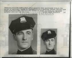 1957 Press Photo 4 suspects questioned in murder of officer George F Pearsall