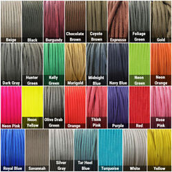 550 Paracord Type III 7 Strand Parachute Cord 10 25 50 100 ft Made in USA $8.59