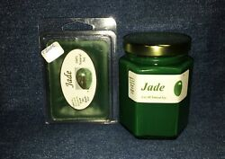 **NEW** Hand Poured Exotic Scented Soy Candles Tarts & Votives - Jade $7.95