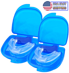 2PCS Stop Snoring Mouthpiece Guard Anti Snore Sleep Bruxism Apnea Teeth Grinding $6.99