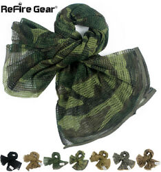ReFire Gear Tactical Camouflage Mesh Scarf Cotton Conceal Hunting Headwear Wrap