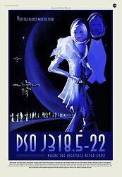 Planet with No Star PSO J318.5-22 Where the Nightlife Never Ends NASA POSTER