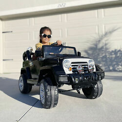 12V Kids Ride On Car Off Road Battery Powered Jeep Truck with Remote MP3 Light $127.99