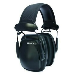 Howard Leight 1030110 Black Sync Stereo Electronic Hearing Protection Ear Muffs