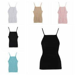 Women Slimming Tank Top Tummy Control Seamless Vest Cami Shaper Body Wear Tee US