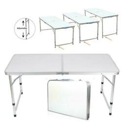 3'/ 4' / 6' Ft Aluminum Camping Folding Table Portable Office Camping Picnic BBQ $34.90