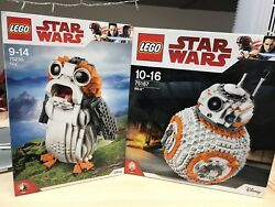 Lego Star Wars - The Porg #75230 + BB-8 #75187 - Brand New In Sealed Boxes