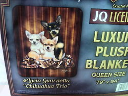 CHIHUAHUA TRIO DOG DOGS QUEEN SIZE BLANKET $61.61