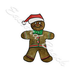 Christmas Gingerbread Man Printed Vinyl Decal - Car Truck SUV Home Tumbler
